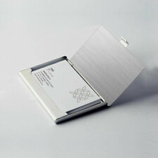 Stainless Steel Amp Metal Business Card Holder Case Id Credit Wallet Silver New