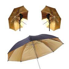 "33"" Gold Light Studio Photography Flash Lighting Reflective Umbrella"