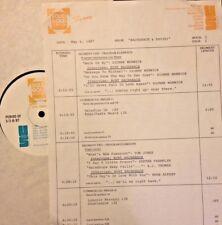 RADIO SHOW: 5/6/87 BACHARACH & DAVID! DIONNE WARWICK, LOVE, BOBBY VINTON, LOVE