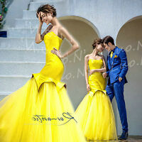 Strapless Mermaid Evening Dresses Formal Prom Party Pageant Cocktail Ball Gown