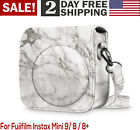 For Fujifilm Instax Mini 9 8 8 Vegan Leather Marble Camera Case With Strap