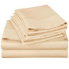 Egyptian Comfort Checker 4 Piece Soft Microfiber Bed Sheet Deep Pocket Sheet Set