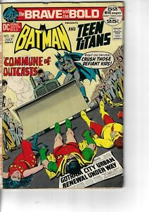 Brave And The Bold 102 Batman Teen Titans VG+ 1972 Glossy Double Size