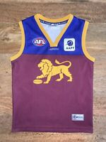 Brisbane Lions Jumper Guernsey Russell Athletic Youth 12 Yrs