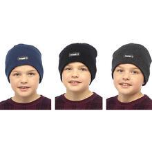 Chapeaux noir en acrylique pour garçon de 2 à 16 ans