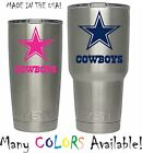 NFL Dallas Cowboys Decal for YETI Tumbler 20 30 Ozark Trail Sticker Football
