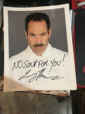 Larry Thomas signed 8x10 photo No Soup for You Seinfeld