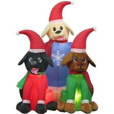 4 ft. Plush Lab Puppy Scene Christmas Inflatable