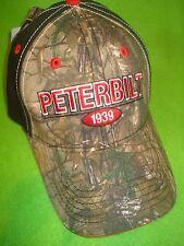 PETERBILT HAT / TRUCKER CAP / CAMO FRONT SANDWICH CAP     *FREE SHIP IN U.S.A.*