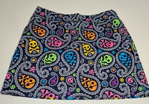 Loudmouth Skulls Womens Golf Skort AU14 US10 In New Condition