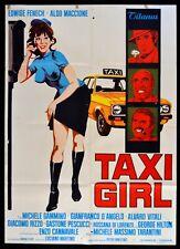 M227 Manifesto 2F Taxi Girl Edwige Fenech Tarantini Fiat Car Hilton