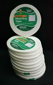 """Lot of 11 Duck Permanent Mounting Tape 3/4"""" x 36 Yards Rolls Hold up to 3 lbs"""