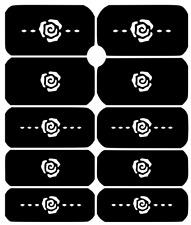 Rose Nail Art Vinyl Stencil Guide Sticker Manicure Hollow Template