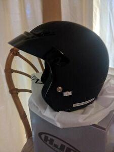 HJC CS-5N CS5 Motorcycle Helmet Matte Black Open Face DOT Size Small 55-56cm