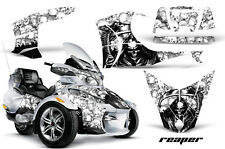 AMR Racing Can Am BRP RTS Spyder Graphic Kit Wrap Street Bike Decal REAPER WHT