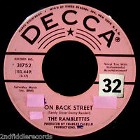 THE RAMBLETTES-On Back Street+Thinking Of You-Rare Northern Soul 45-DECCA #31752