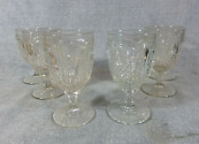 Antique EAPG Flint Glass New England Pineapple Water Goblets - Set of Six