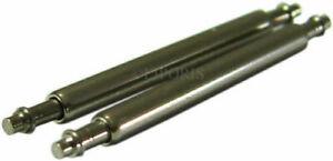 2 Stück HEKTOR heavy-duty Federstege für Herrenuhren Durchmesser 2,0mm