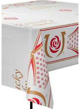 """Kentucky Derby Plastic Table Cover 54"""" x 108"""""""