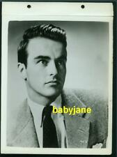 MONTGOMERY CLIFT VINTAGE 8X11 KEYBOOK PHOTO YOUNG HANDSOME PORTRAIT LINEN BACKED