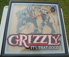 SUPER NICE GRIZZLY SNUFF CLOCK NEW/IN BOX