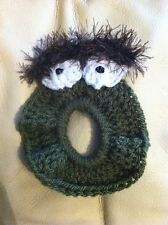 crochet Camera Buddy, Photo Prop Lens, Animal Oscar The Grouch Monster Alien