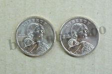 2019 P&D Native American Sacagawea Dollar Uncirculated Space Program 2 Coins