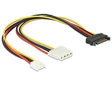 Delock Kabel Y-Power SATA Stecker 15 Pin  4 Pin Molex Buchse  4 Pin Floppy 65227
