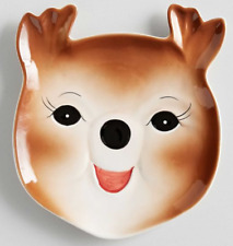 Pottery Barn - Retro Reindeer Plate