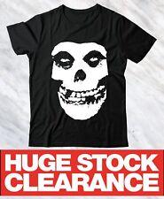 Misfits Skull Punk Rock Music Christmas Bargain Free UK Postage Black Unisex Tee