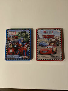 New Lee Publications Magnetic Marvel Heroes - 35 Magnetic pieces. Disney Cars 30