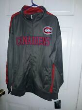 Montreal Canadiens Hockey  NHL Canada track Jacket athletic gear coat NEW - 3XL