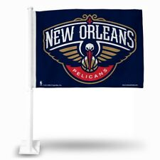 New Orleans Pelicans NBA 11X14 Window Mount 2-Sided Car Flag