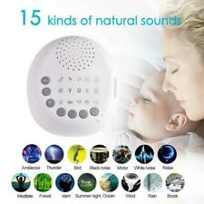 White Noise Maker Sound Machine for Baby Therapy Spa Easy Sleep Fan Rain Relax
