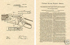 WINCHESTER 1895 LEVER ACTION RIFLE PATENT Art Print READY TO FRAME!!!!! Gun