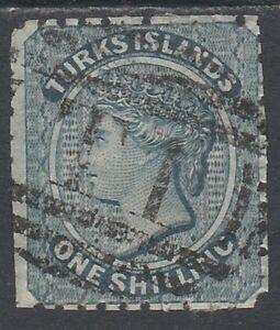 TURKS ISLANDS 1867 QV 1/- USED