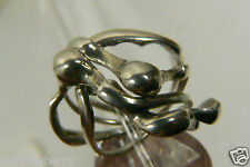 Sterling Silver 925 Ring Band 4 pc interlocking Puzzle sz 6.5 Wave design