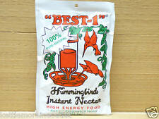 Best-1 Hummingbird Instant Nectar 8oz Pouch All Natural Makes 32oz