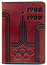 XXII Moscow-1980 Olympic Games LOGO Large Size LEATHER Cover NOTEBOOK Souvenir