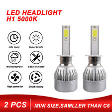 1 Pair H1 200W 20000LM COB Car LED Headlight Bulbs Conversion Kit 5000K White