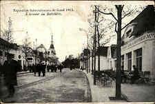 Gand Gent Belgien Belgique AK 1913 Exposition Internationale Avenue de Belvédère
