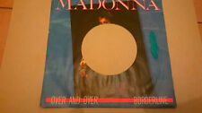 MADONNA Over and Over ONLY COVER rare cover for 7'' promo juke box ITALY EX