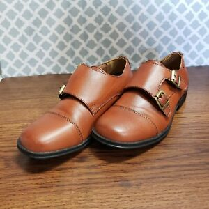 New Kenneth Cole Unlisted Size 13 Boys Brown Shoes Dress School Slip-on