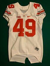 OSU Ohio State Football Jersey #49 Game Worn Nike Jersey SAM HUBBARDs 1st Jersey