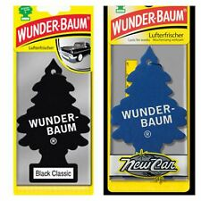 2 pcs Wunderbaum Magic tree car air freshener New Car, Black classic