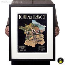 1949 Tour De France revista portada de estilo vintage y retro ciclismo velo cartel impresión