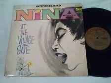 NINA SIMONE - AT THE VILLAGE GATE - 1960s COLPIX RECORDS JAZZ VINYL LP - SCP-421
