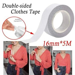 5M Lingerie Tape Double Sided Clear Fashion Clothing Bra Body Adhesive Strong