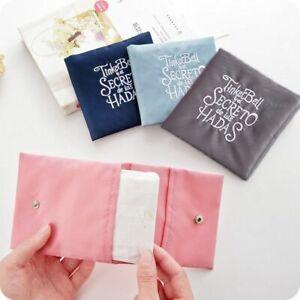 1 Pcs Women Cute Sanitary Pad Pouch Napkin Organizer Key Coin Purse Storage Bag