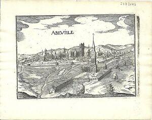 Antique map, Abeville / Abbeville